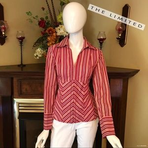 EUC - The Limited - stretch button-down top - Sz M